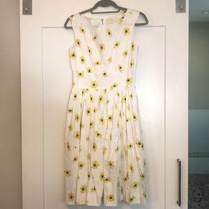 Kate Spade Sunflower Cotton Dress Size 6